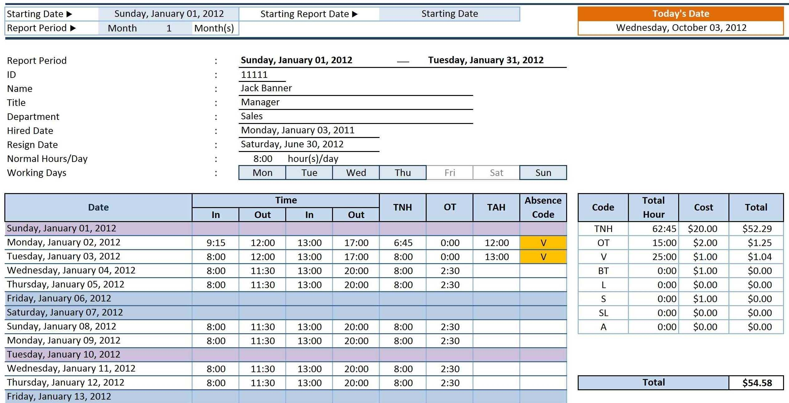 002 Free Excel Timesheet Template With Formulas Of Ideas Pertaining To Excel Timesheet Template With Formulas