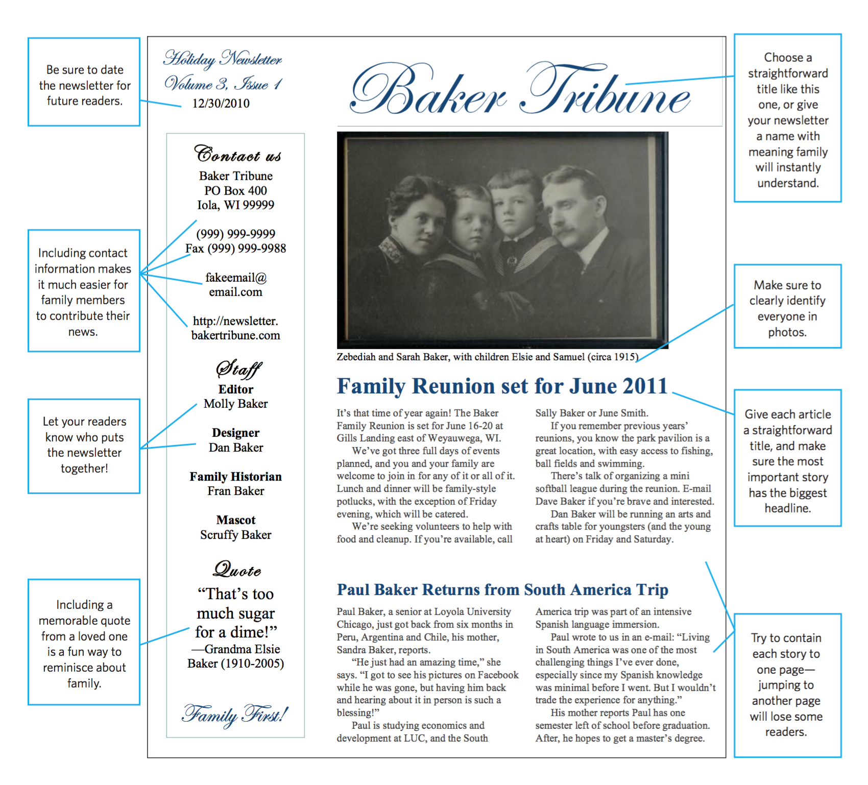 002 Template Ideas Screen Shot At Pm Family Newsletter Intended For Family Newsletter Template
