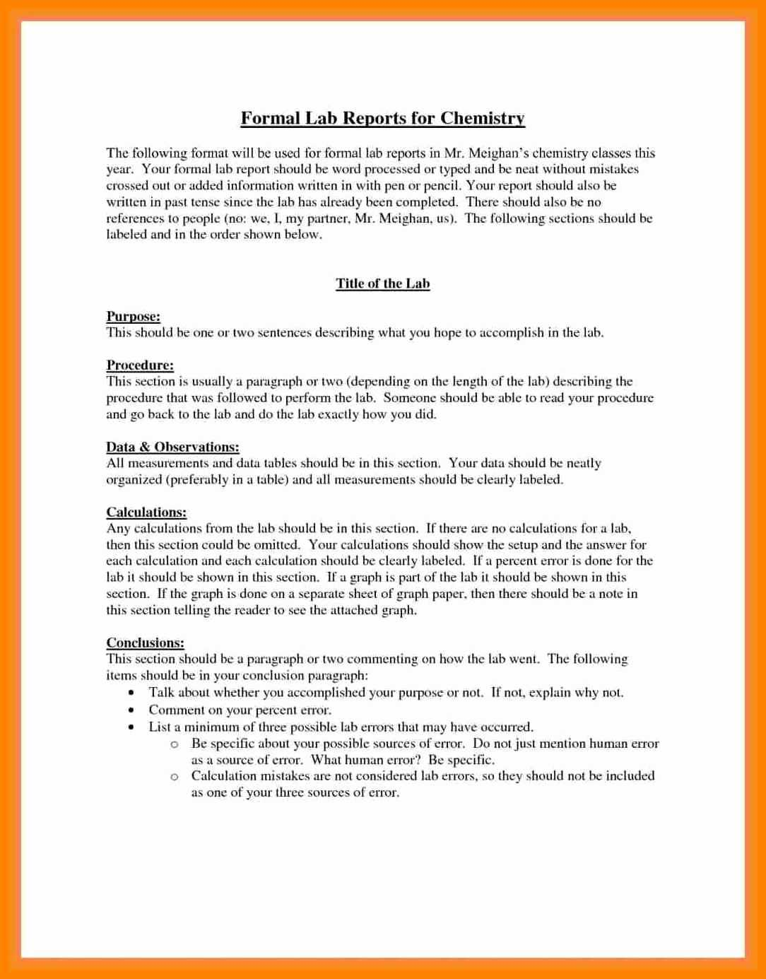 003 Formal Lab Report Example Best Write Up Template Of Regarding Formal Lab Report Template