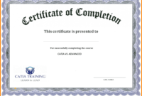 003 Free Certificate Of Completion Template Word Surprising inside Free Certificate Of Completion Template Word