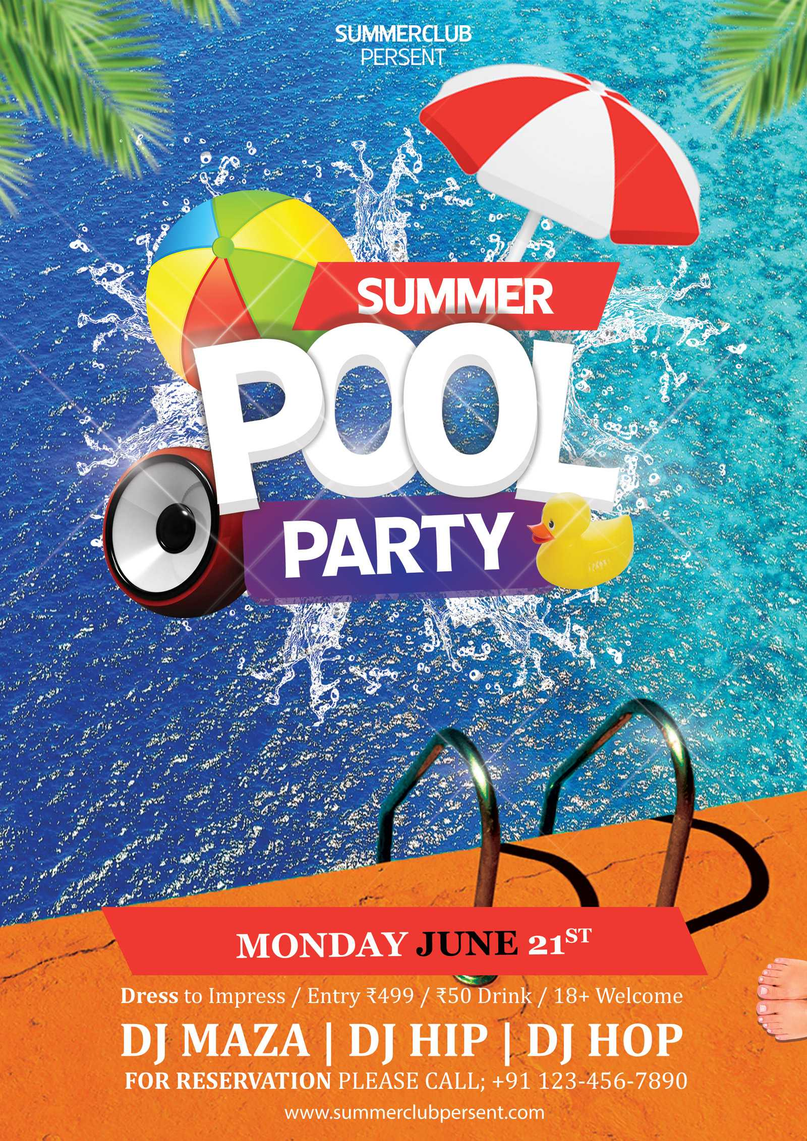 003 Free Pool Party Flyer Templates Psd Template Ideas For Free Pool Party Flyer Templates