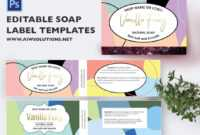003 Free Soap Label Templates Template Fantastic Ideas with regard to Free Printable Soap Label Templates