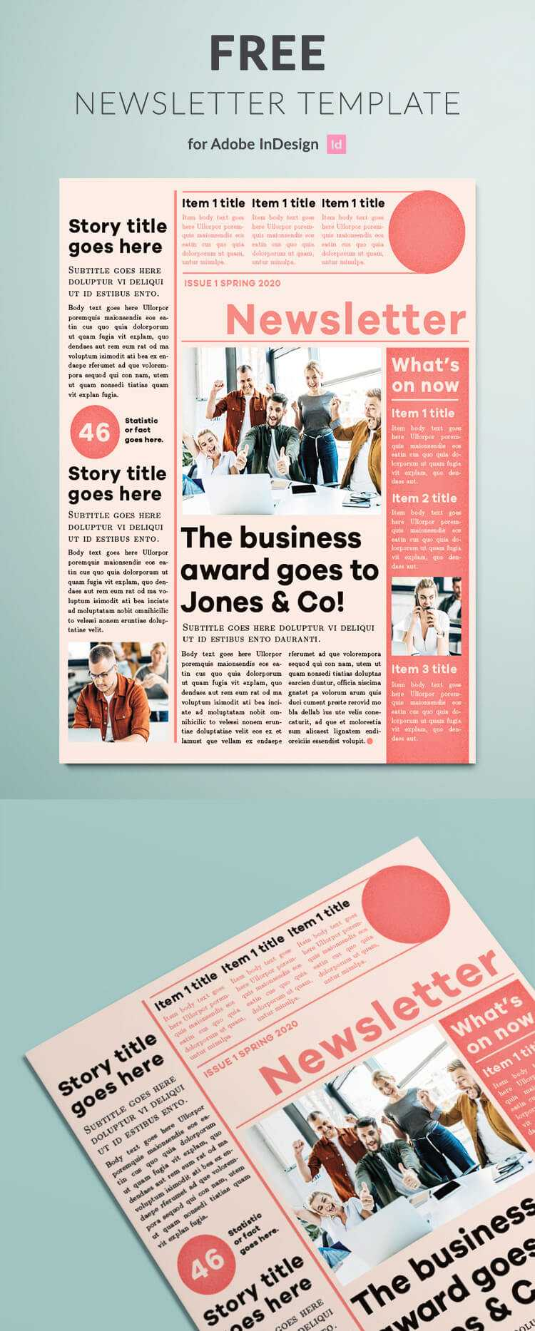 003 Newsletter Template Ideas Adobe Indesign Templates Free Inside Free Indesign Newsletter Templates