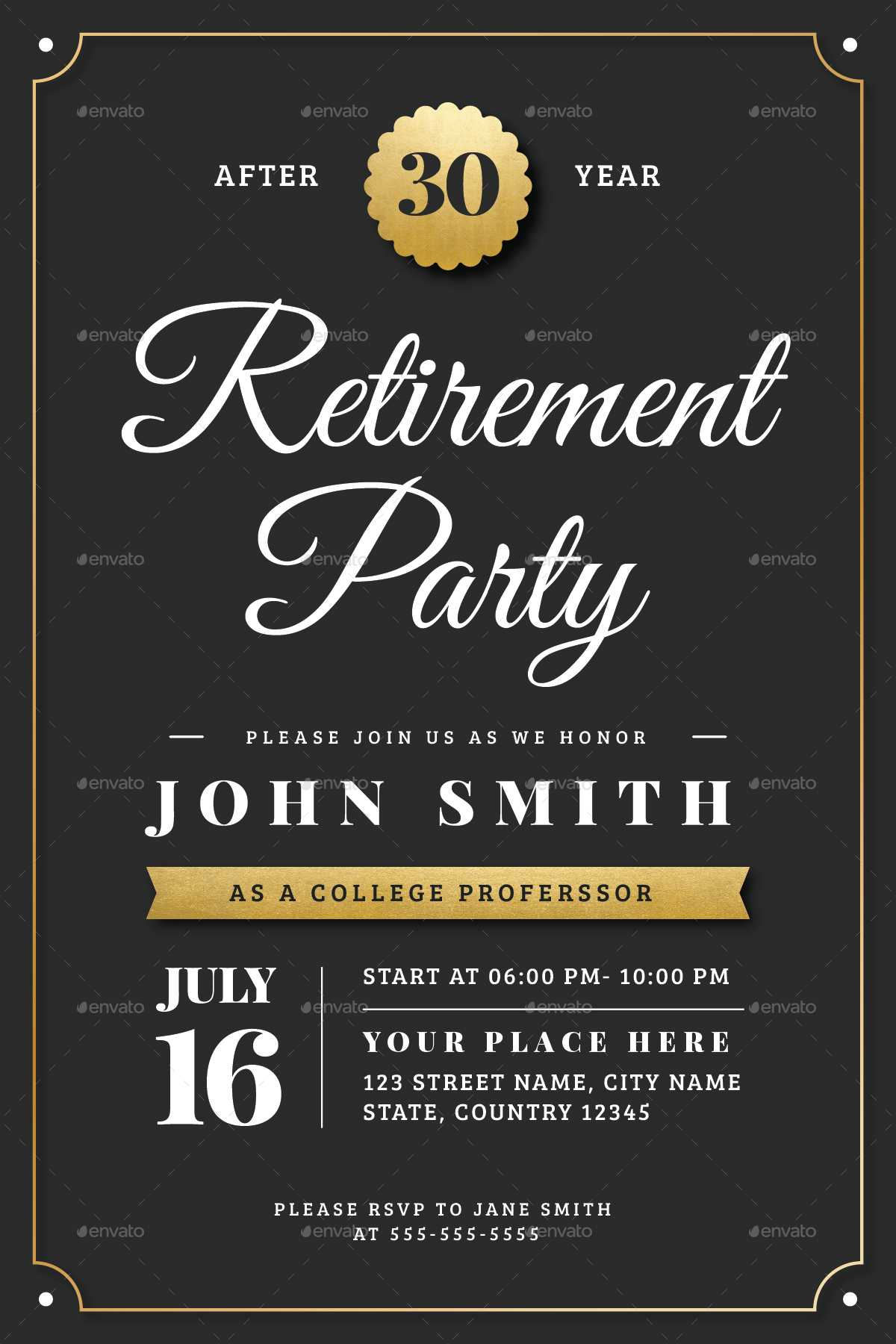 003 Retirement Flyer Template Free Party Templates With Regard To Free Retirement Flyer Templates