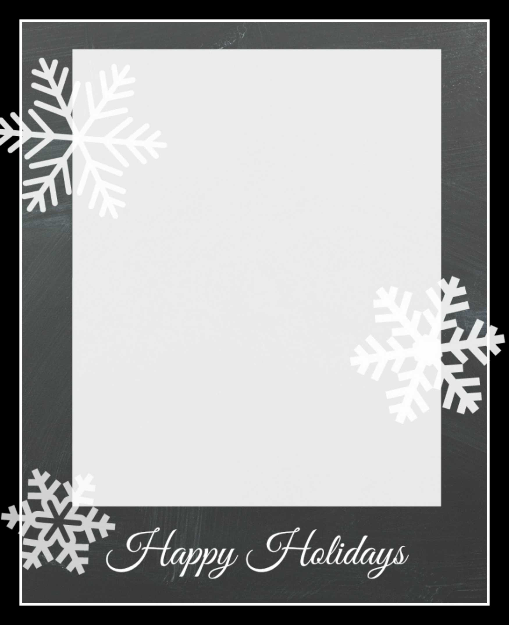 003 Snowflakecard3 Free Holiday Card Templates Template Inside Free Holiday Photo Card Templates