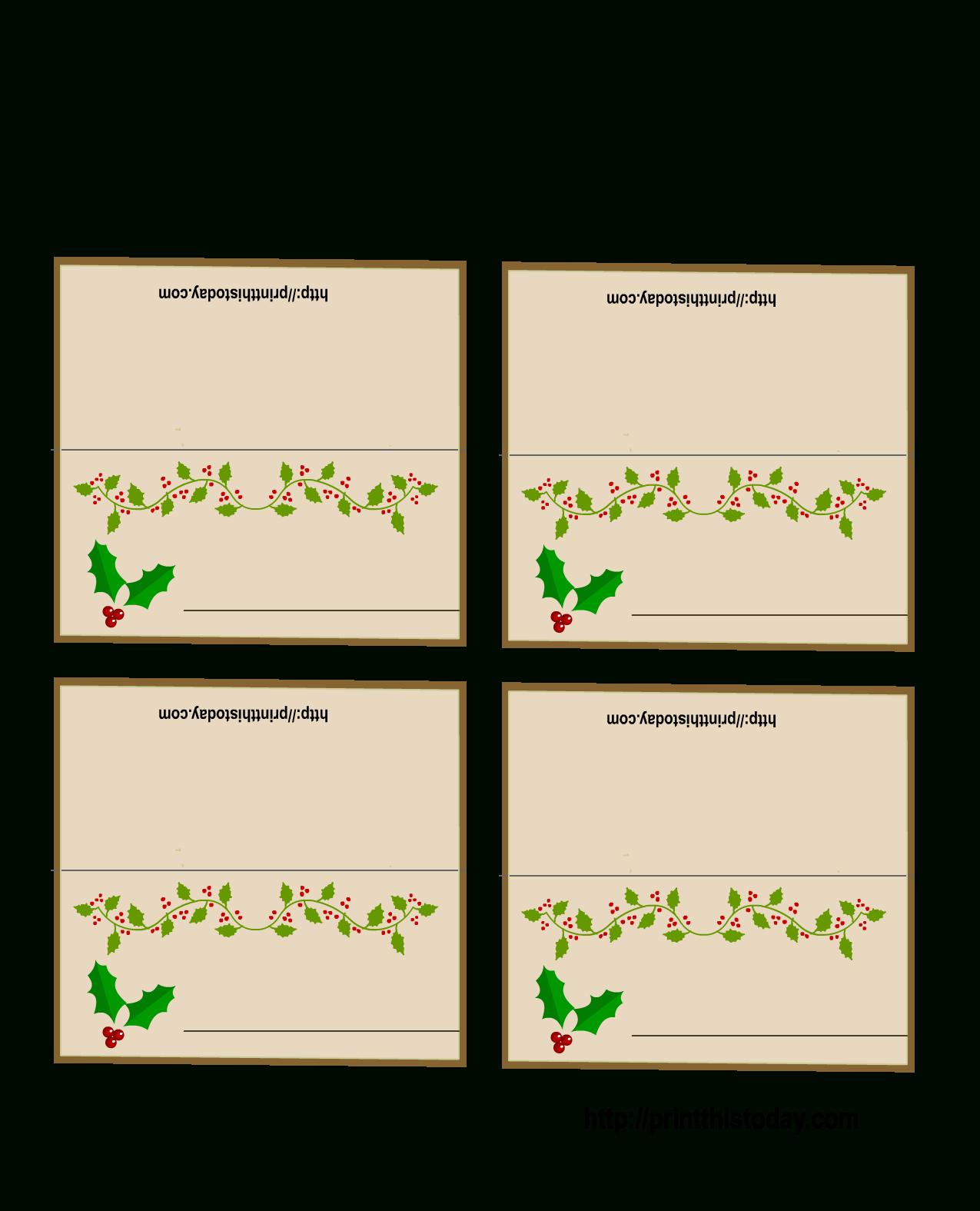 003 Table Name Cards Template Christmas Ideas Place For Christmas Table Place Cards Template