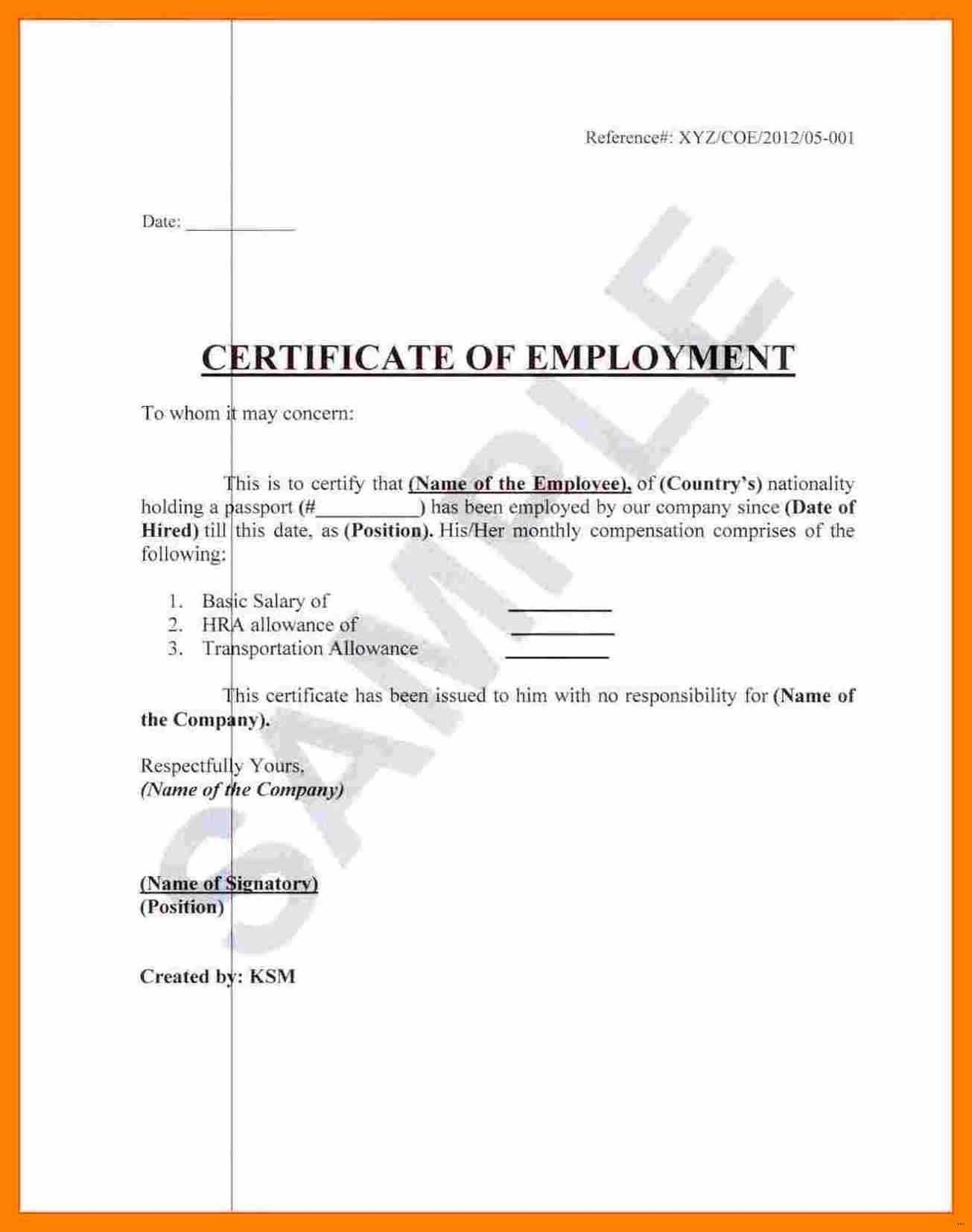 003 Template Ideas Certificate Of Employment Sample In Japan With Regard To Employee Certificate Of Service Template