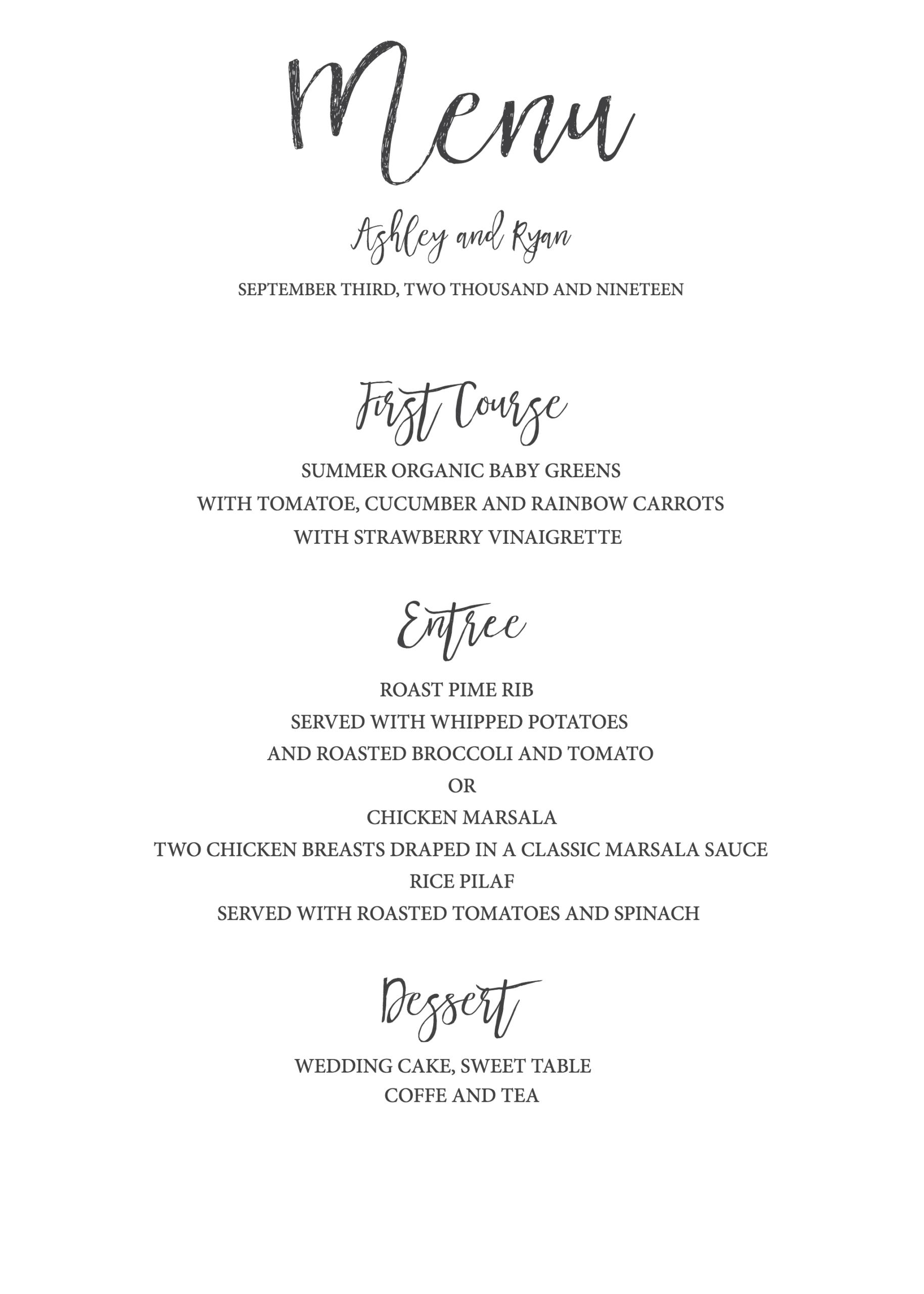 004 Free Printable Menu Template Stupendous Ideas Dinner With Regard To Free Printable Menu Templates For Wedding