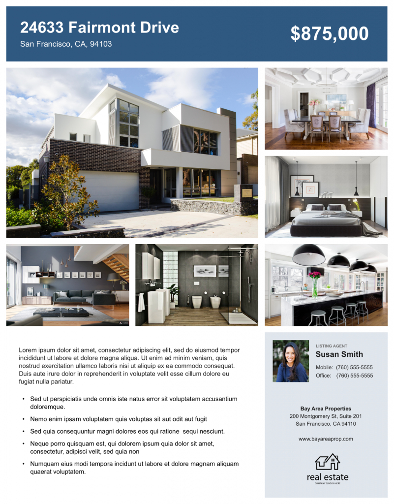 004 Real Estate For Sale Flyers Templates Template Ideas Within Free Home For Sale Flyer Template