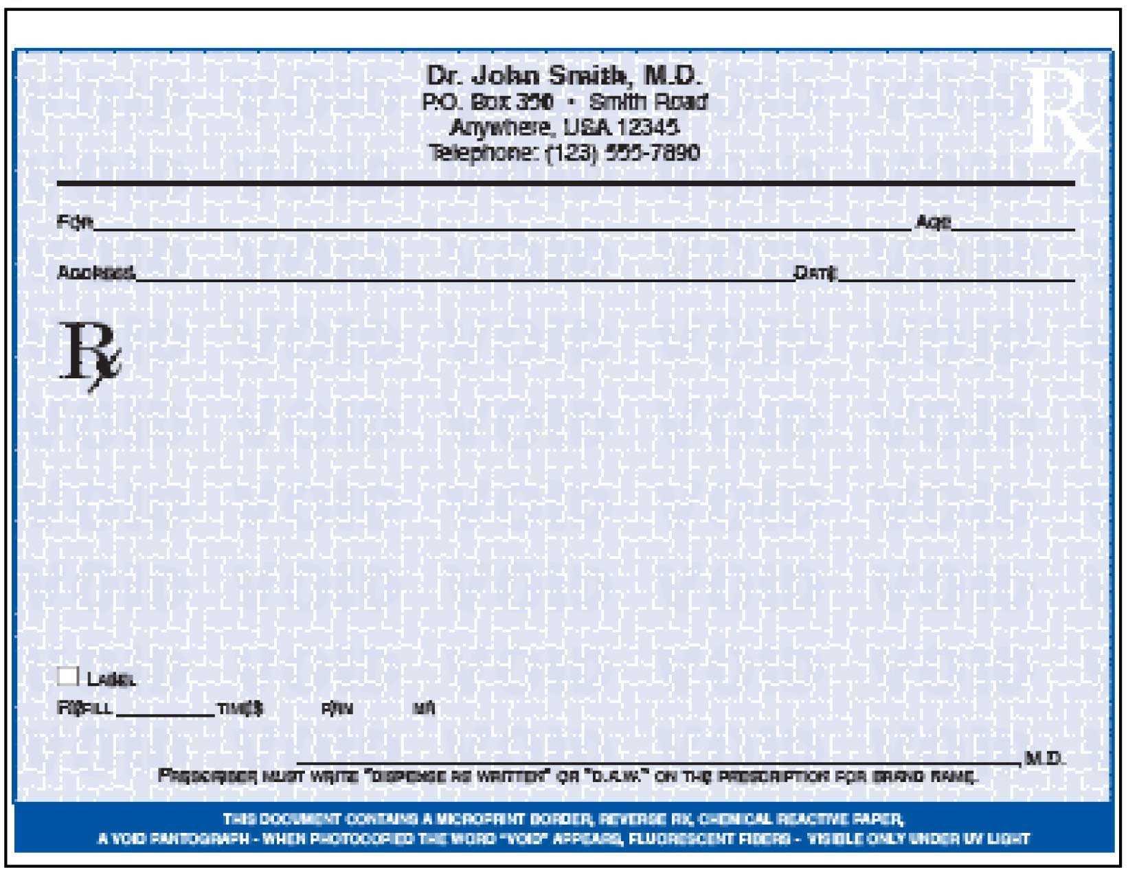 005 Doctor Prescription Pad Template Microsoft Word Free Regarding Doctors Prescription Template Word