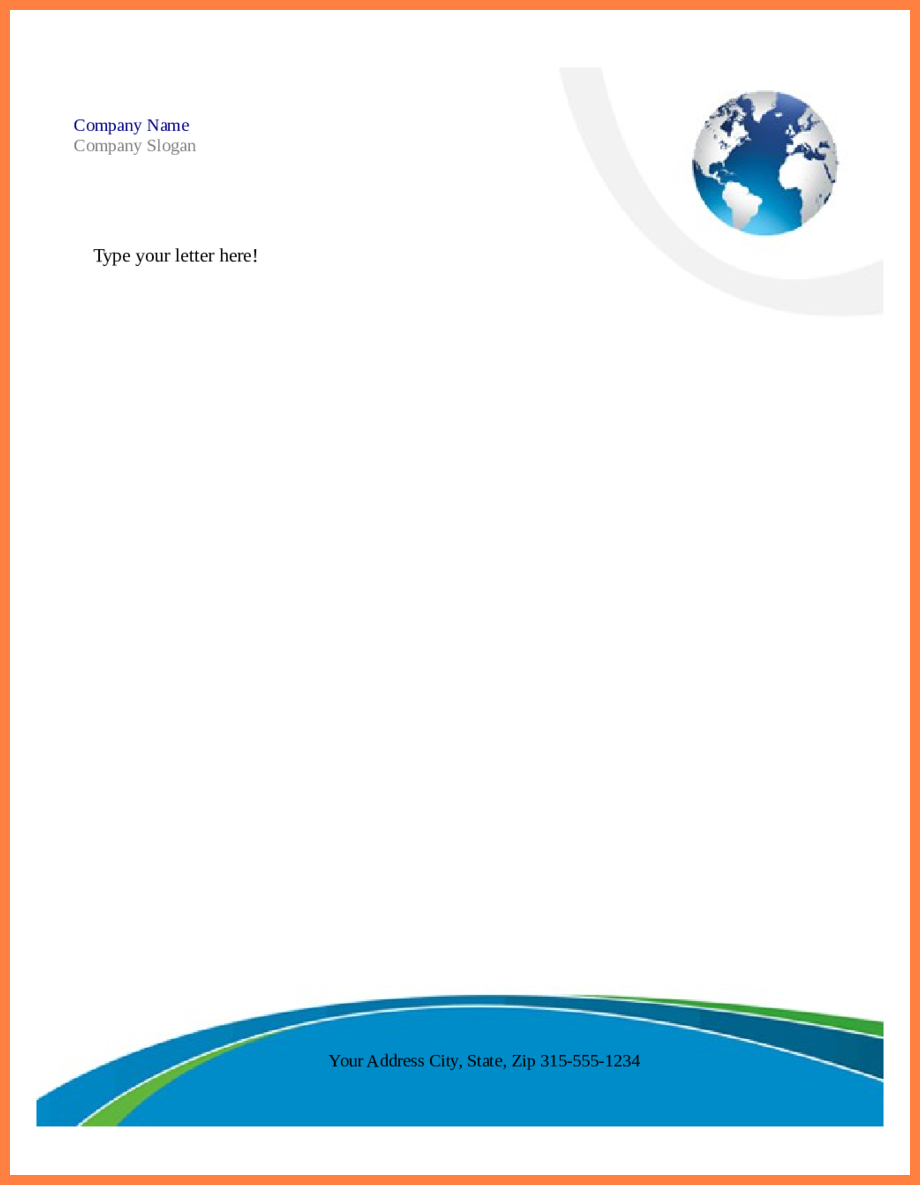 006 Free Company Letterhead Template Download Inspirational With Regard To Company Letterhead Template Word