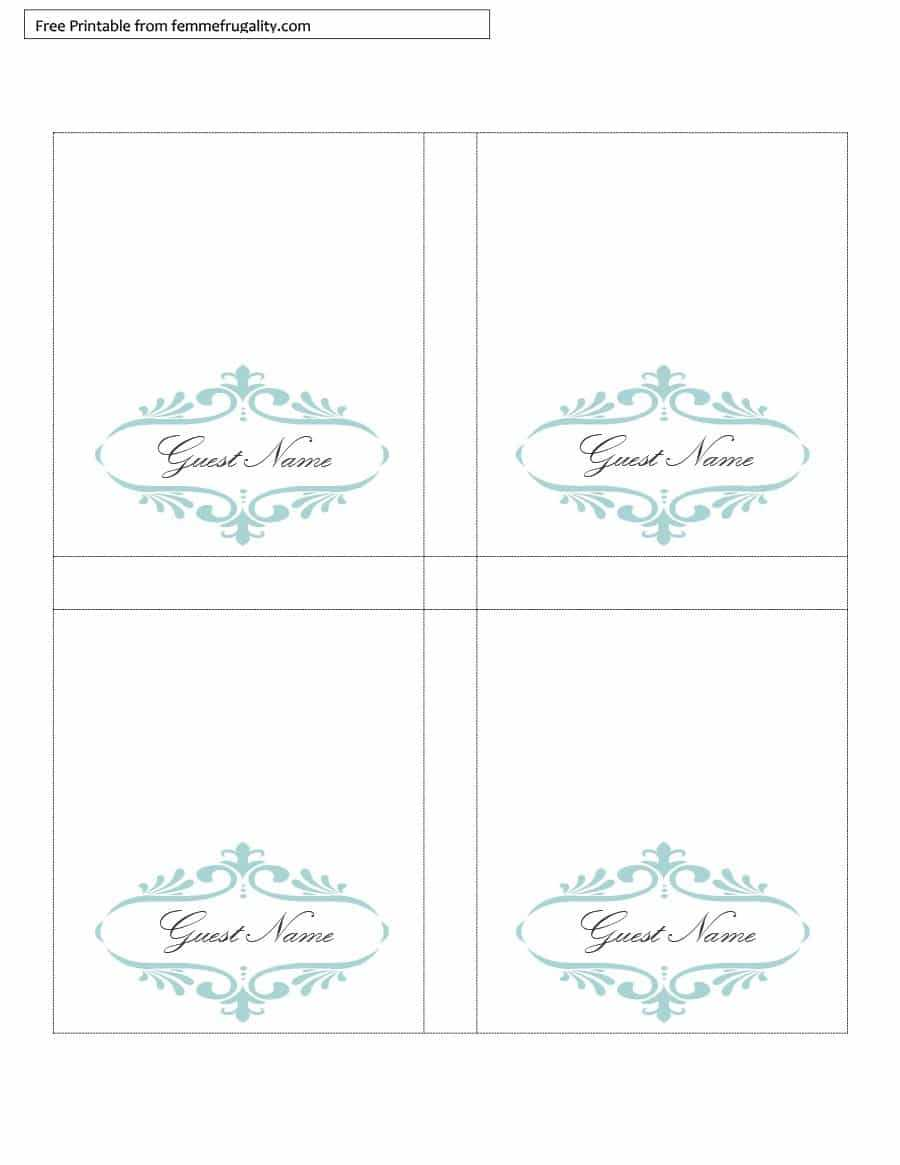 006 Table Place Card Template Free Download Ideas Tent For Free Tent Card Template Downloads