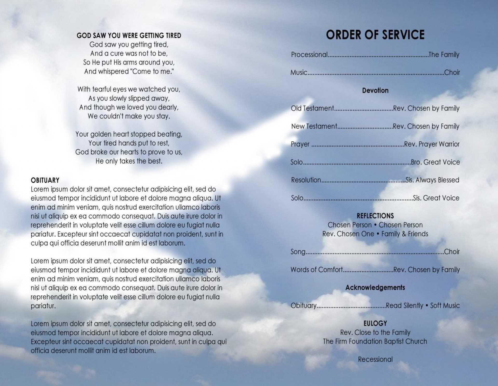 006 Template Ideas Church Program Word Free Bulletin Intended For Church Program Templates Word