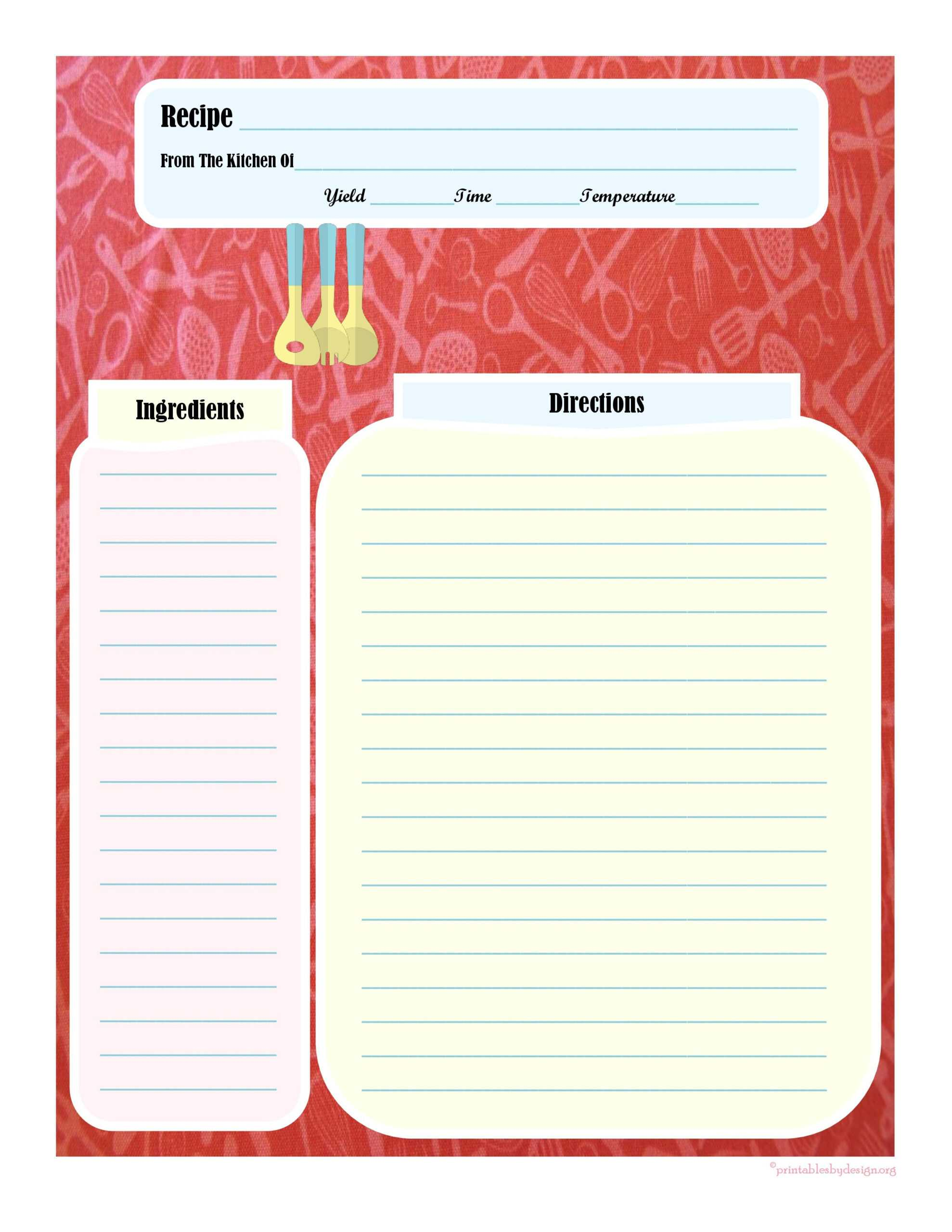 008 Template Ideas Fillable Recipe Card Impressive Free For Pertaining To Fillable Recipe Card Template