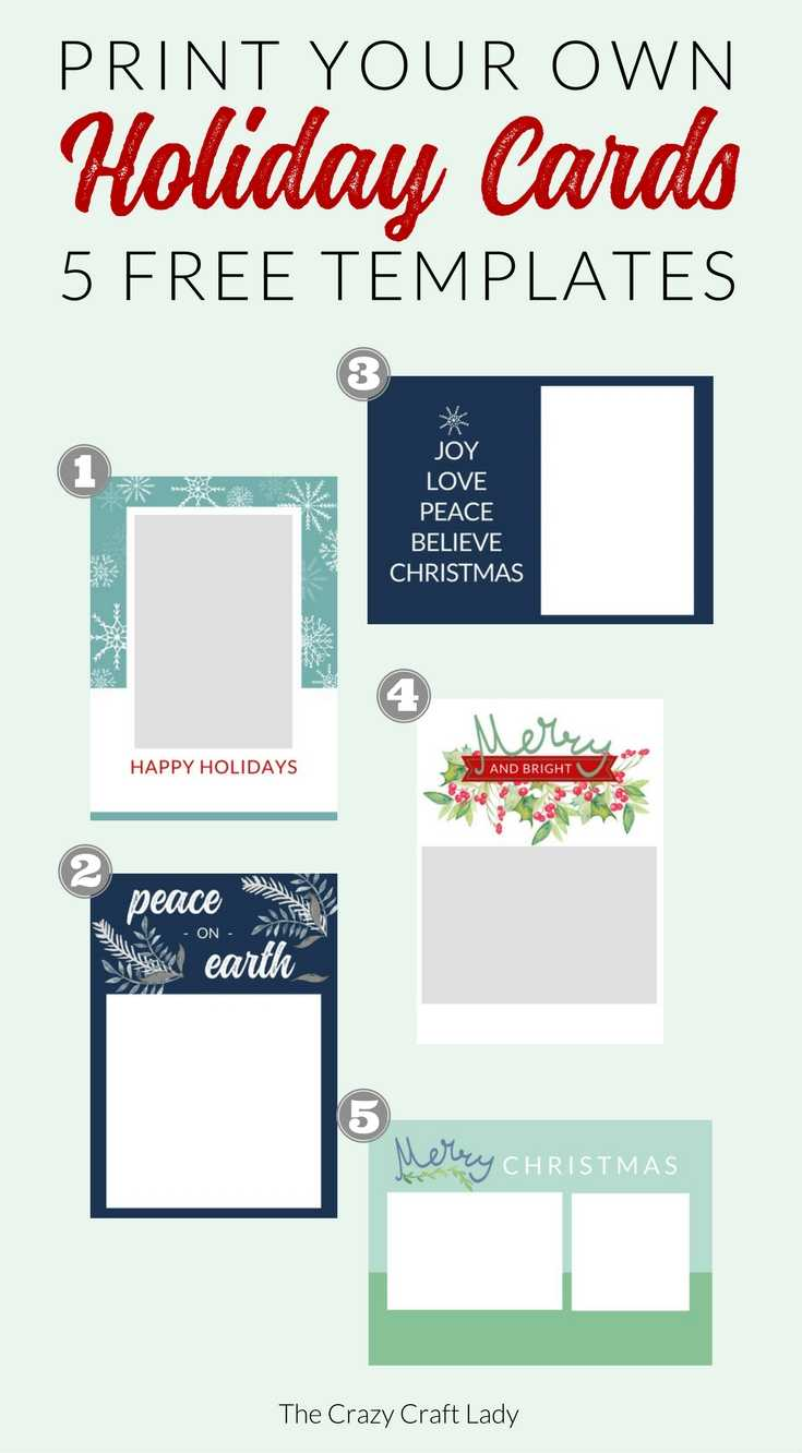 009 Free Printable Holiday Photo Card Templates Template For Free Holiday Photo Card Templates