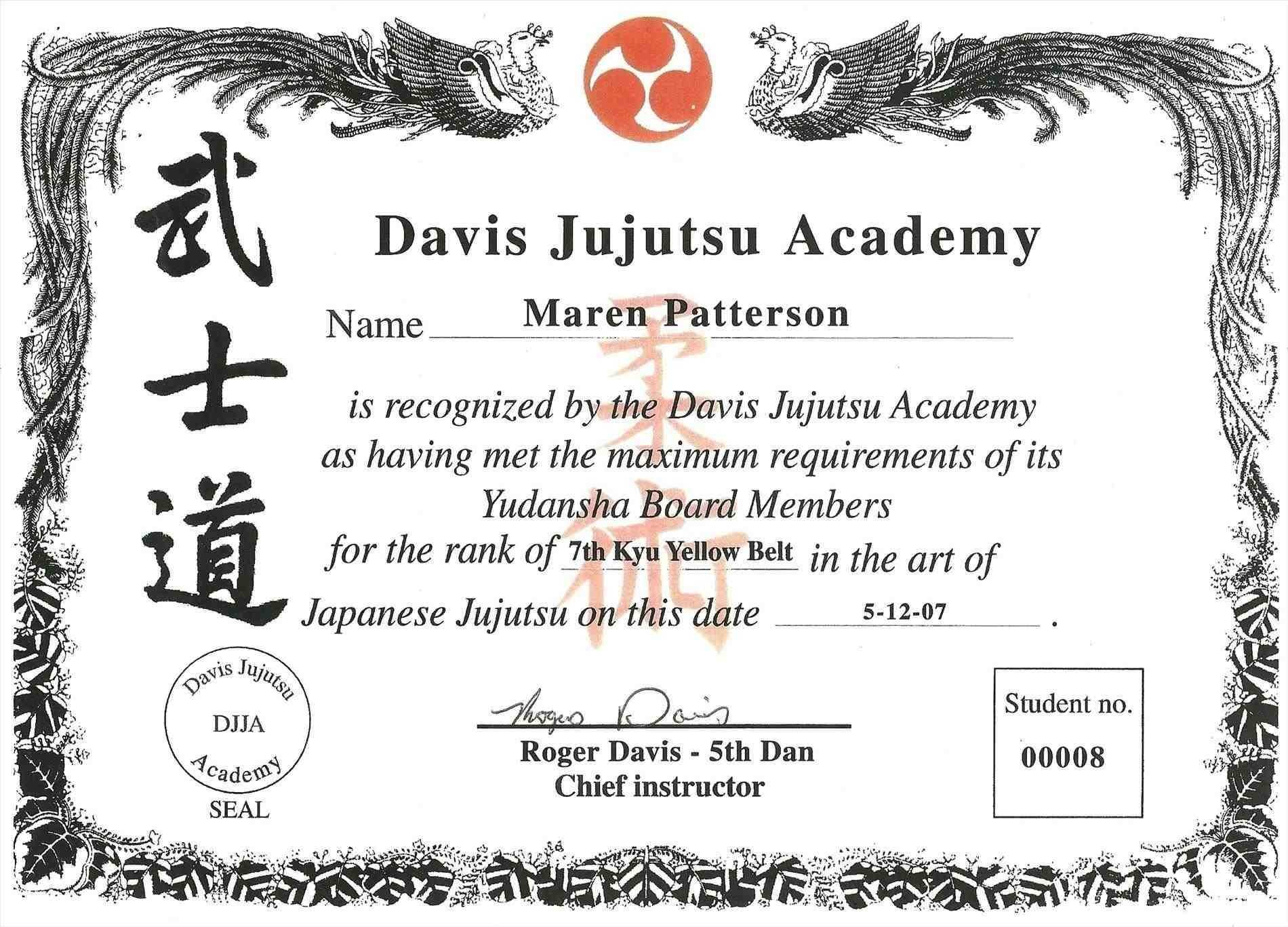 009 Martial Arts Certificate Templates Free Best Solutions For Free Art Certificate Templates