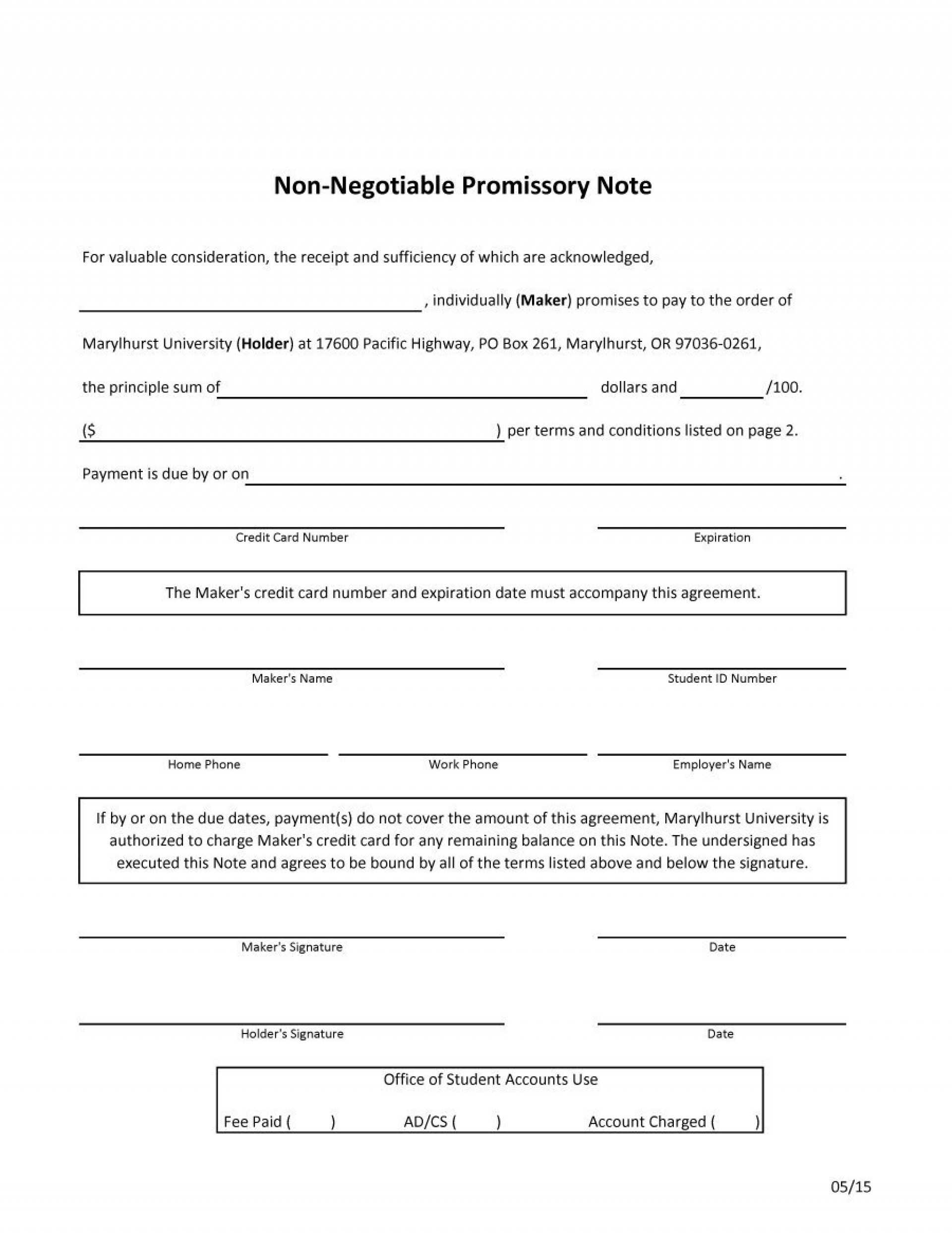 010 Template Ideas Northcarolina Promissory Note Pdf Inside Credit Note Template On Word Download