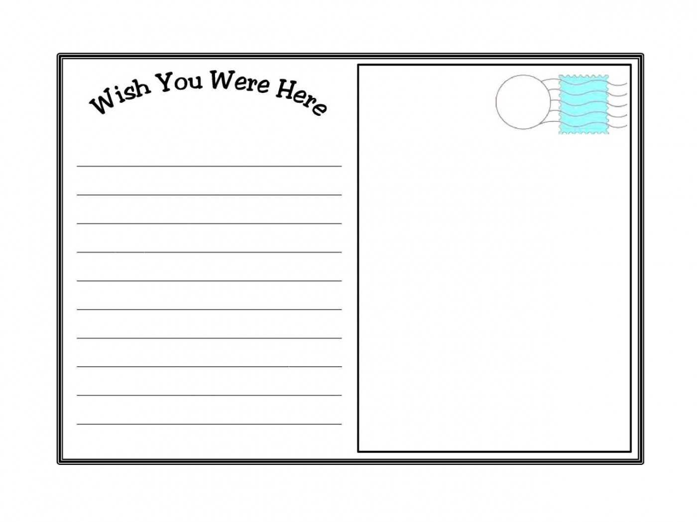 011 Postcard Template Ideas Free Printable Top Templates For Free Printable Postcard Templates