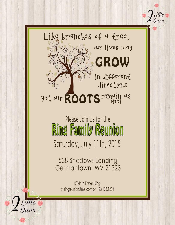 011 Template Ideas Family Reunion Invitation Awesome With Regard To Family Reunion Flyer Template