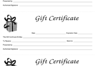 012 Gift Certificate Template Free Remarkable Ideas Massage regarding Custom Gift Certificate Template