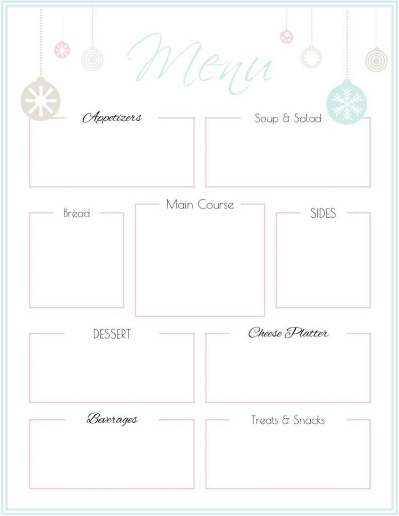 014 Free Printable Dinner Party Menu Templates Template Regarding Free Printable Menu Template
