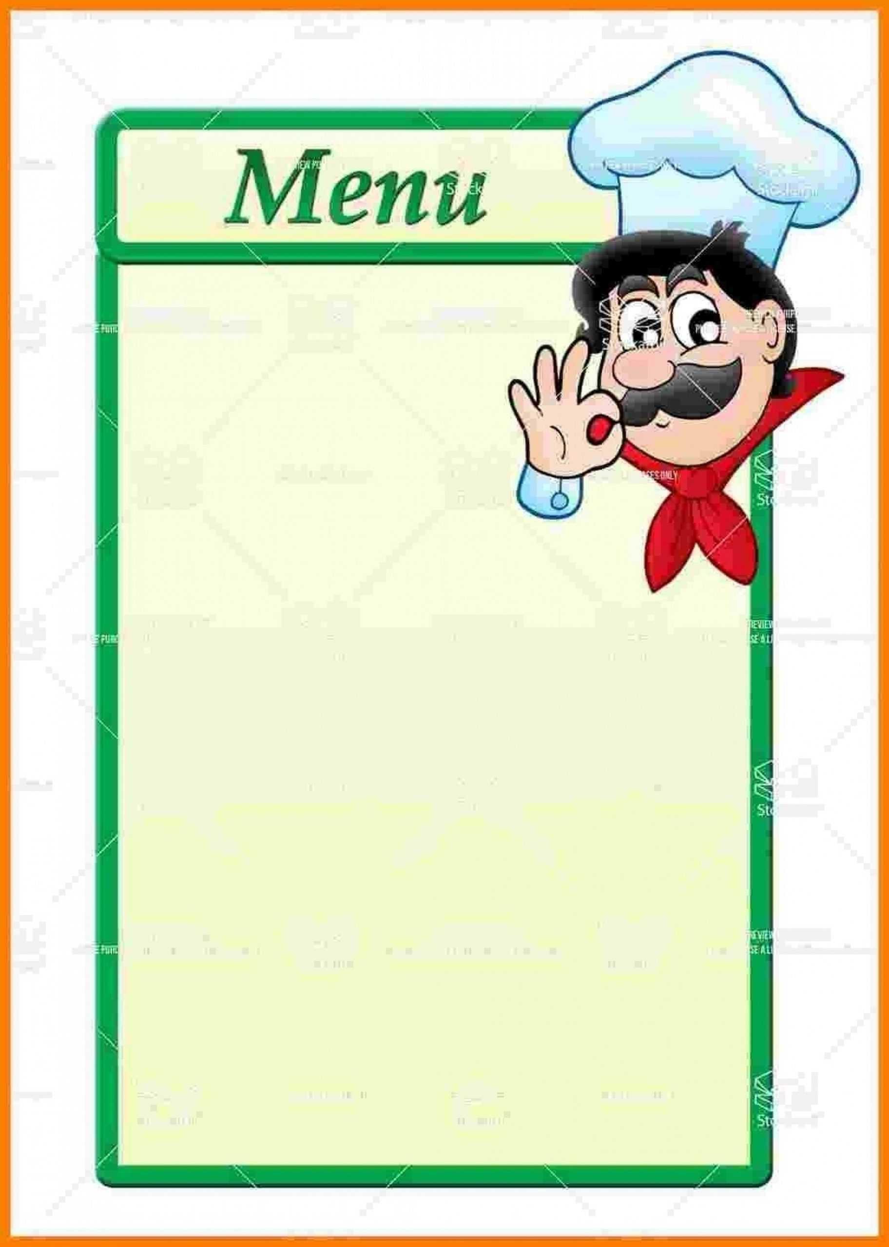 014 Template Ideas Blank Restaurant Menu Filter After Throughout Empty Menu Template