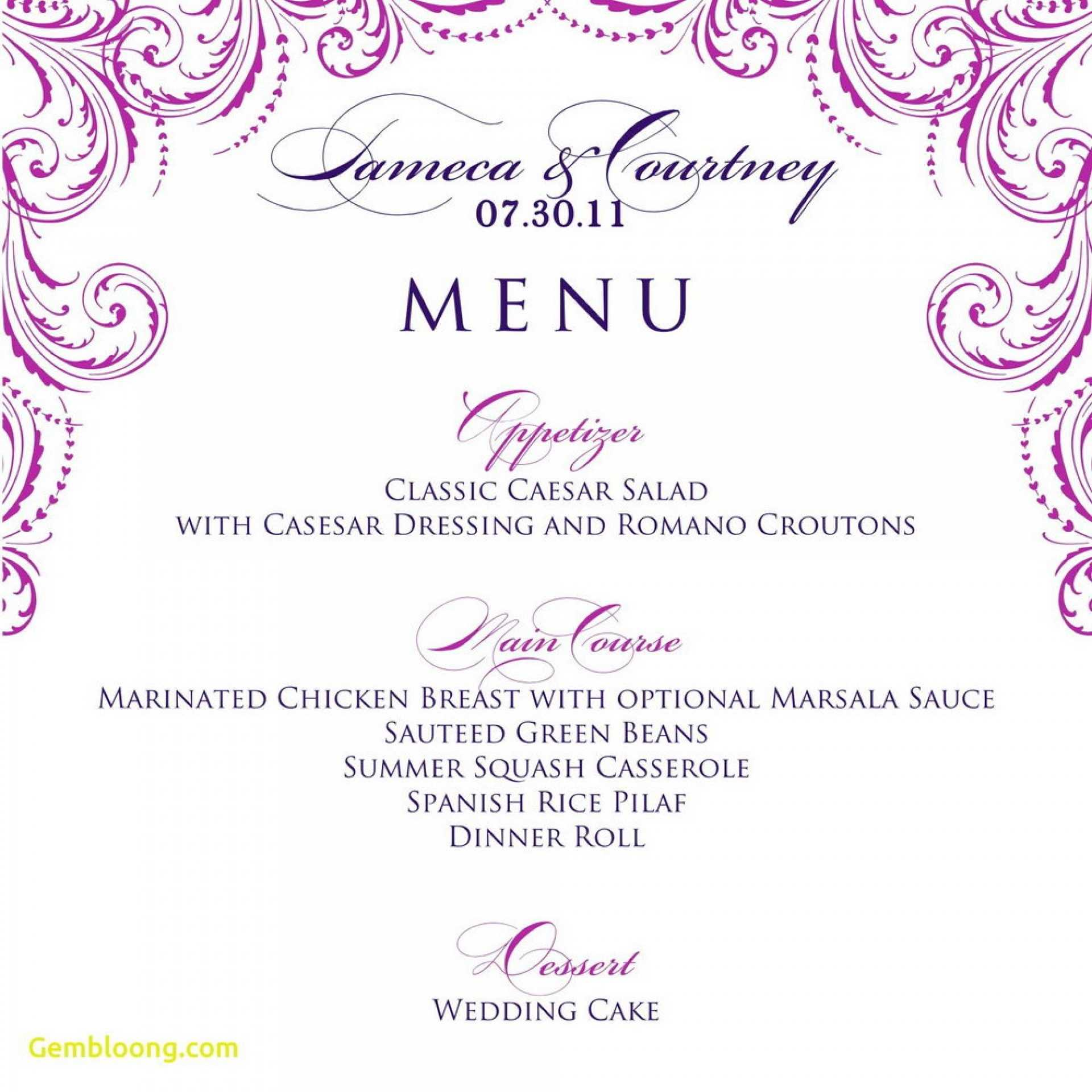 014 Template Ideas Free Printable Dinner Party Menu Inside Free Printable Dinner Menu Template