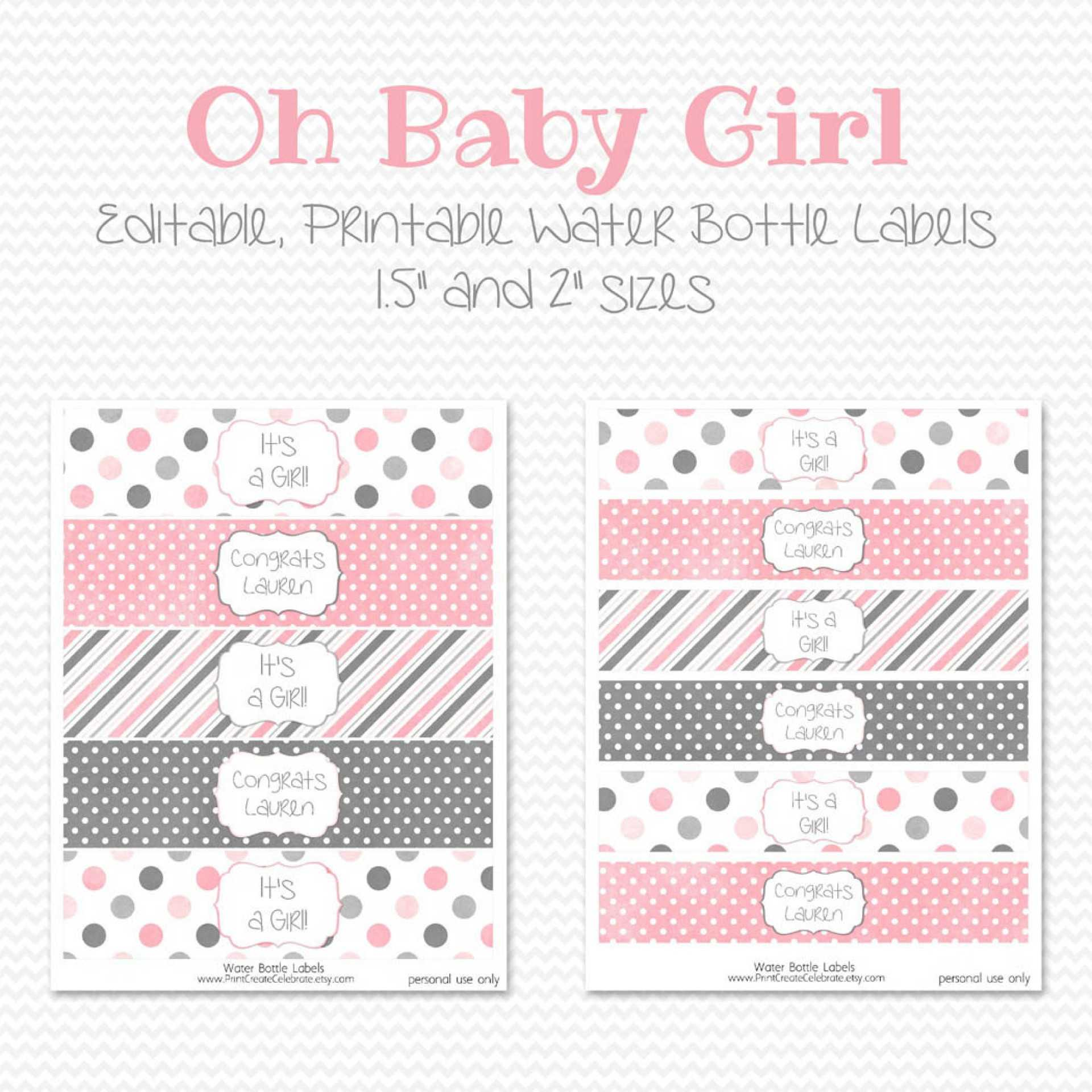 014 Water Bottle Labels Template Free Baby Shower Label Throughout Free Water Bottle Labels For Baby Shower Template