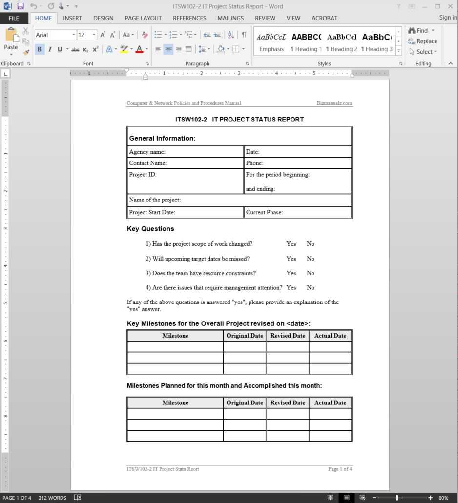 015 Itsw102 Project Progress Report Template Stirring Ideas Pertaining To Daily Status Report Template Software Development