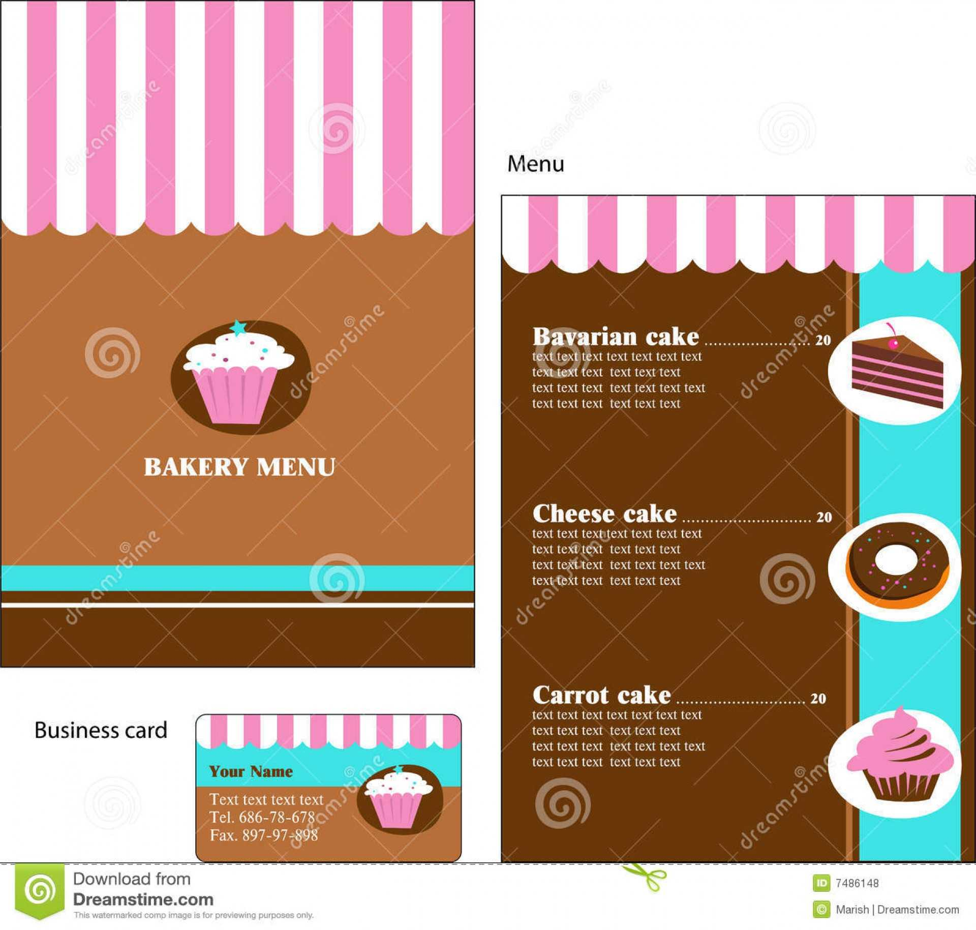 017 Cover2 Template Ideas Menu Card Templates Free Download Intended For Free Bakery Menu Templates Download