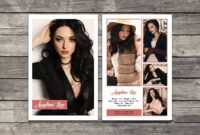 017 Model Comp Card Template Outstanding Ideas Photoshop Psd pertaining to Free Zed Card Template