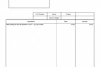 019 Free Blank Invoice Template Printable Templates with regard to Free Bill Invoice Template Printable