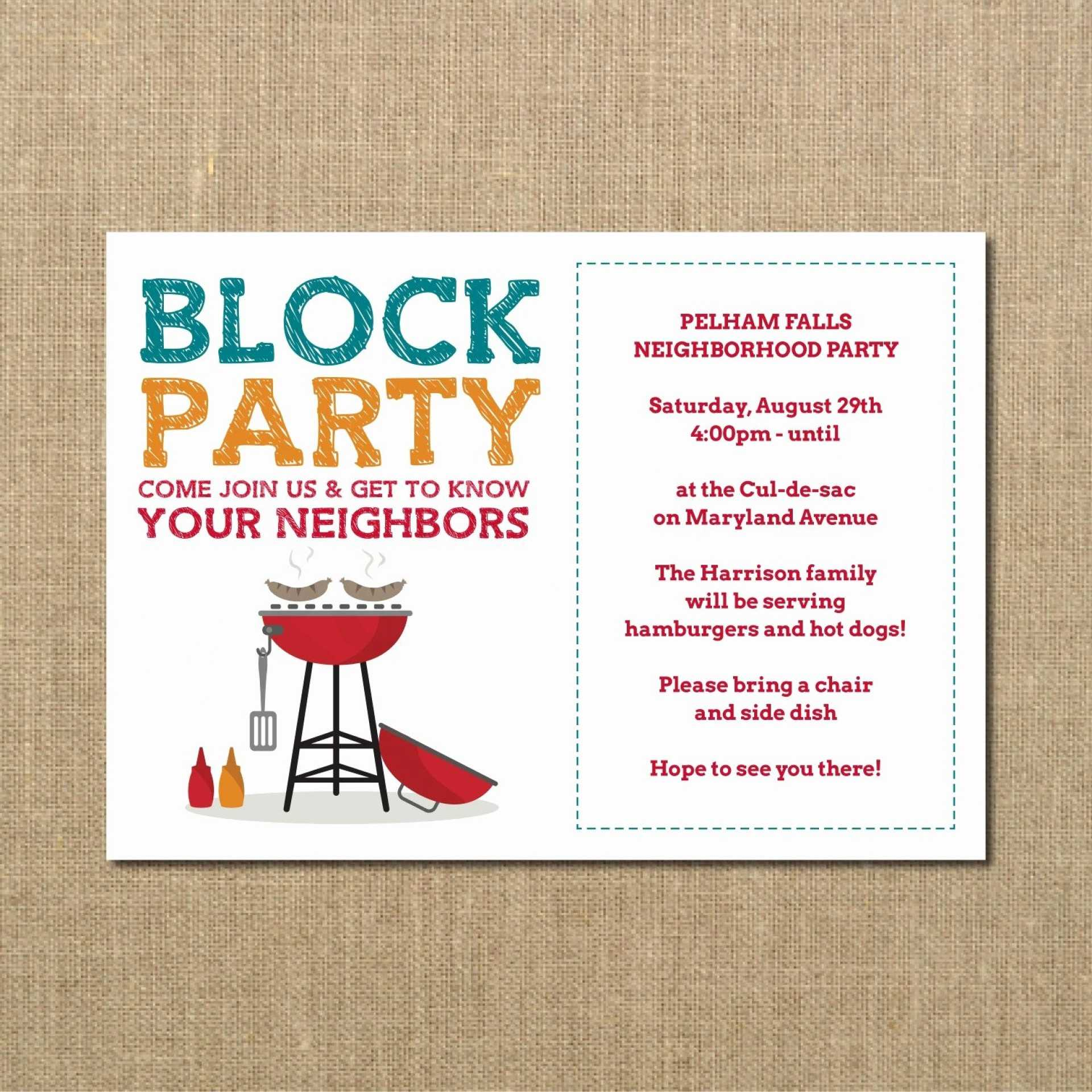 020 Free Block Party Flyer Template Word Independence Day Inside Free Block Party Flyer Template