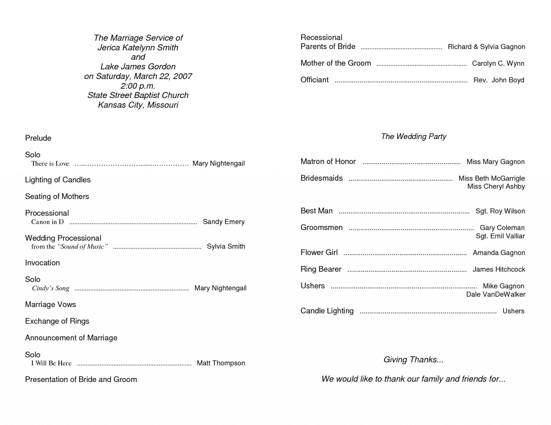 020 Template Ideas Free Blank Church Program Templates Inside Church Program Templates Word
