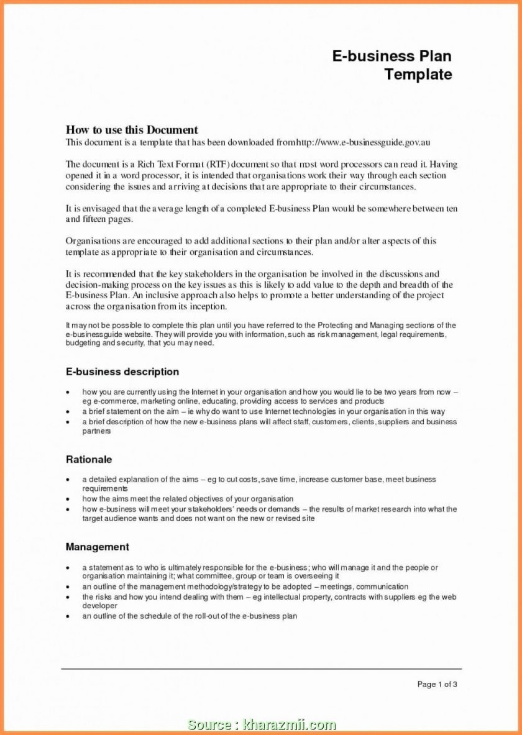 021 Free Ecommerce Business Plan Template Doc Download Intended For Ecommerce Website Business Plan Template