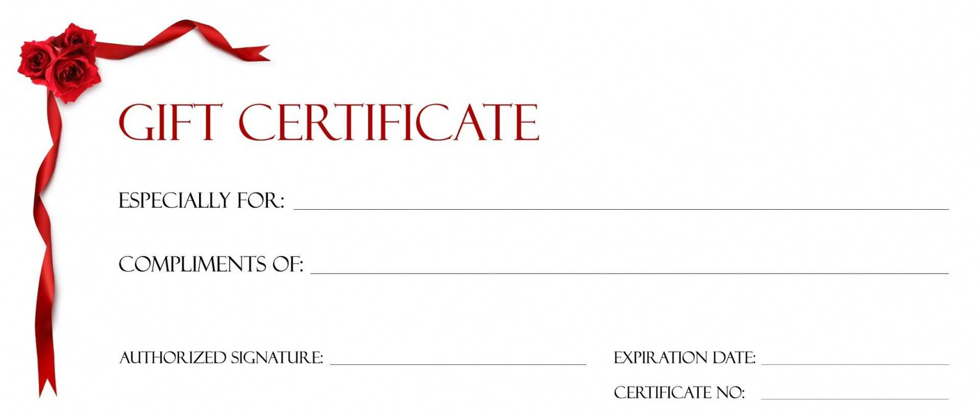 021 Gift Certificate Templates Free Template Ideas Printable Throughout Custom Gift Certificate Template