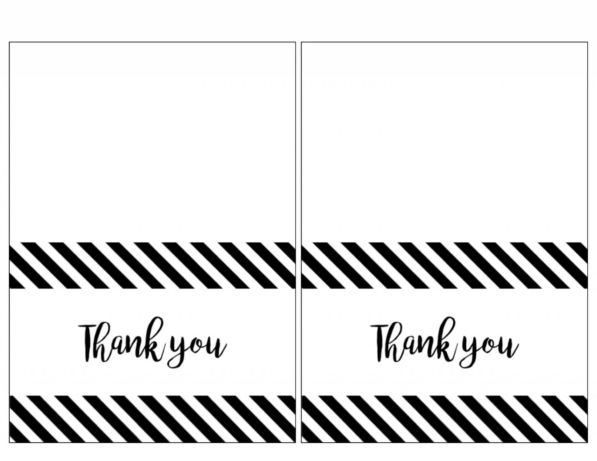 021 Printable Thank You Card Templates Note For Teacher From Regarding Free Printable Thank You Card Template
