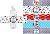 021 Template Ideas Personalized Water Bottle Labels intended for Free Custom Water Bottle Labels Template