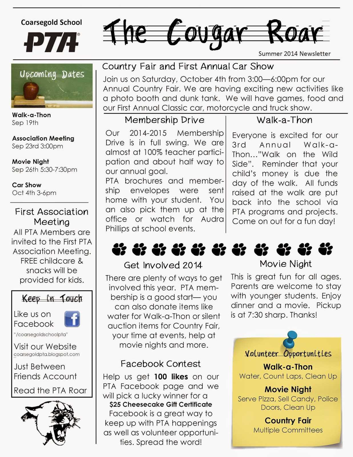 022 Free School Newsletter Templates For Free School Newsletter Templates