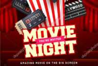 023 Free Movie Night Flyer Template Ideas Templates throughout Family Night Flyer Template