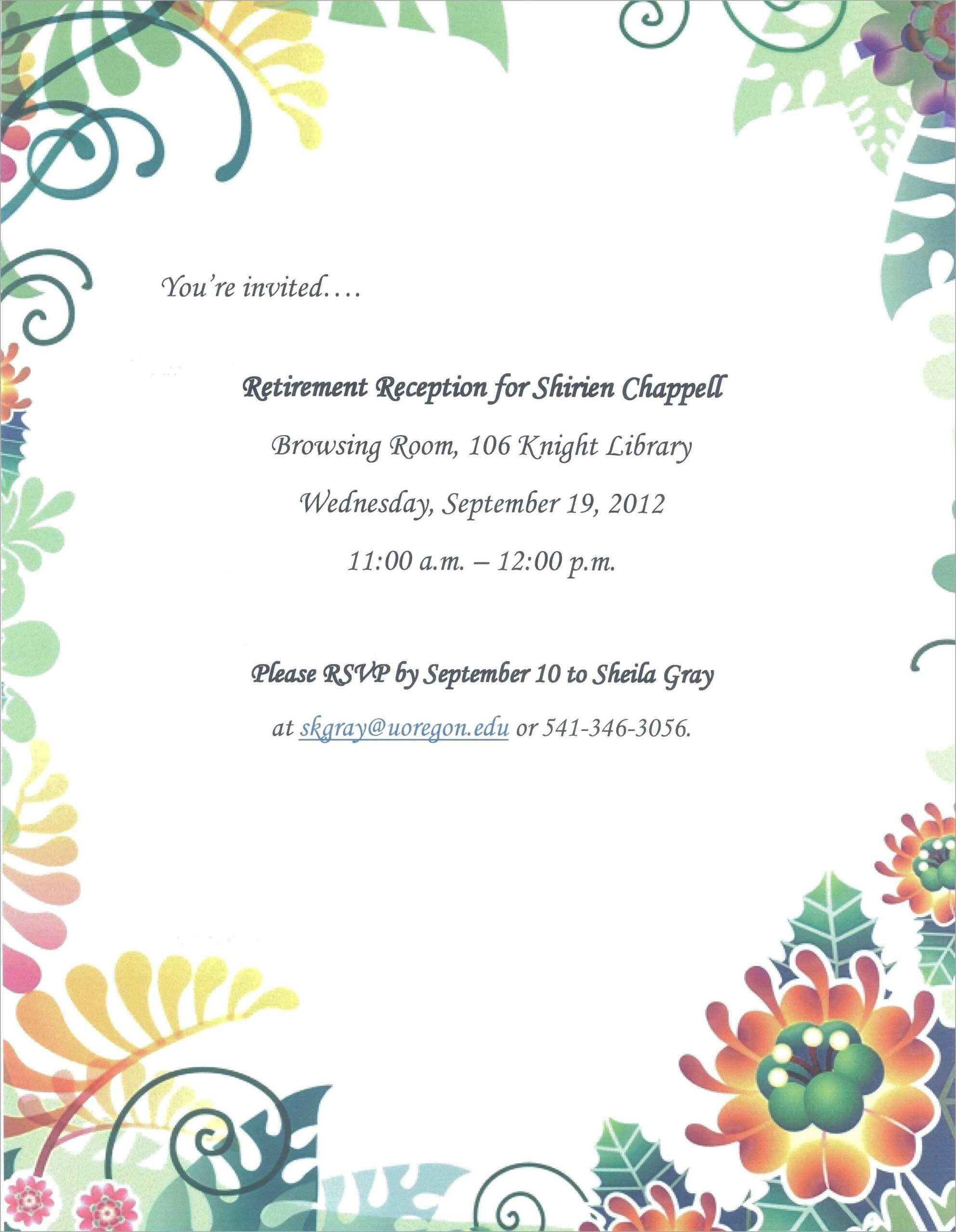 024 Elegant Farewell Party Invitation Template Free Best Of Regarding Farewell Certificate Template