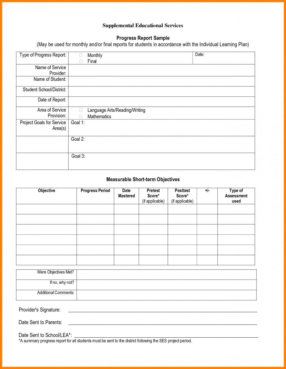 024 School Progress Report Template Doc Elementary Ample Pdf Intended For Educational Progress Report Template