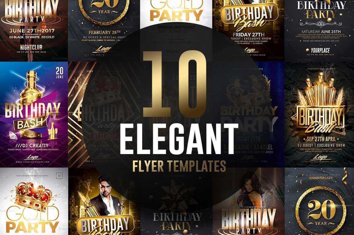 026 Elegant Flyer Template Ideas Birthday Psd Free Wondrous Throughout Elegant Flyer Template Free