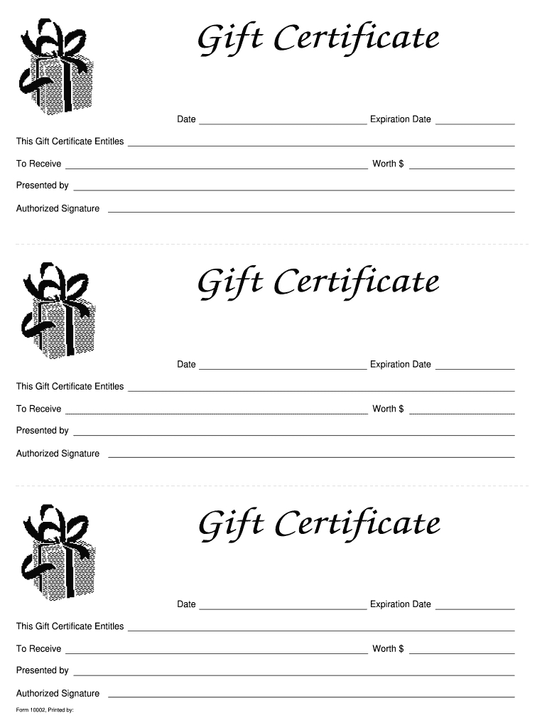 026 Free Gift Card Template Pdf Large Printable Certificates Pertaining To Fillable Gift Certificate Template Free