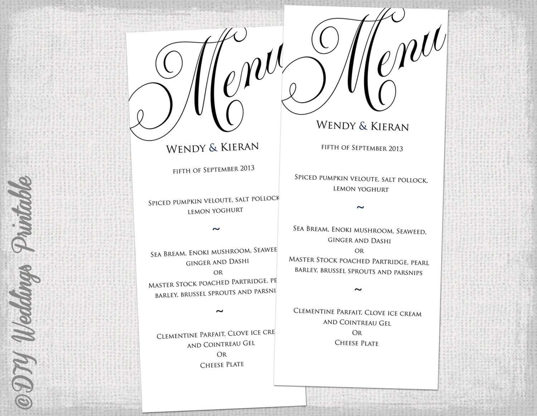 028 Word Food Menu Template Ideas 8 Best Images Of Printable Within Free Printable Dinner Menu Template
