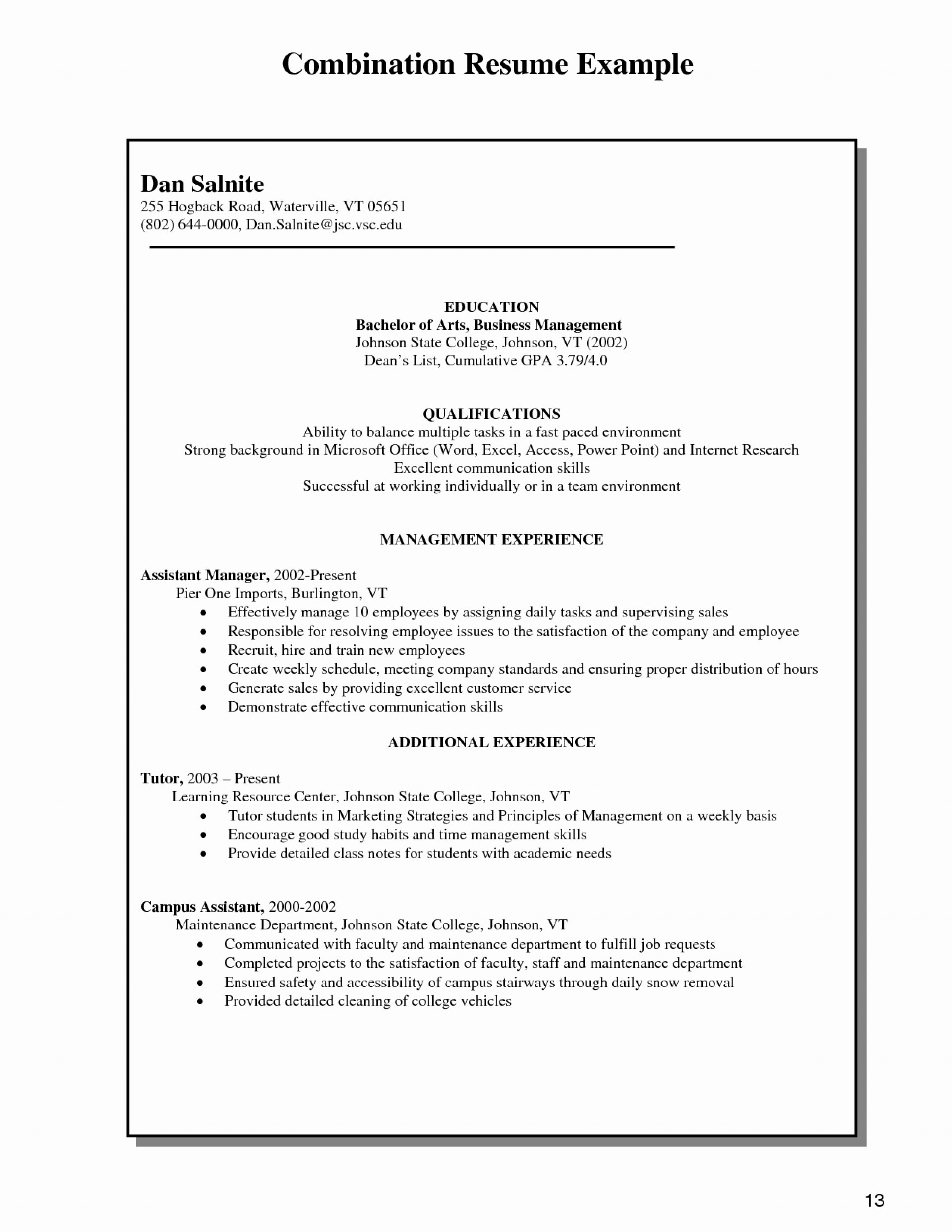 029 Combination Resume Template Word Free Templates 27 1 With Combination Resume Template Word