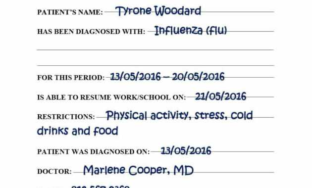029 Fake Doctors Note Templates For School Work With Regard in Free Fake Medical Certificate Template