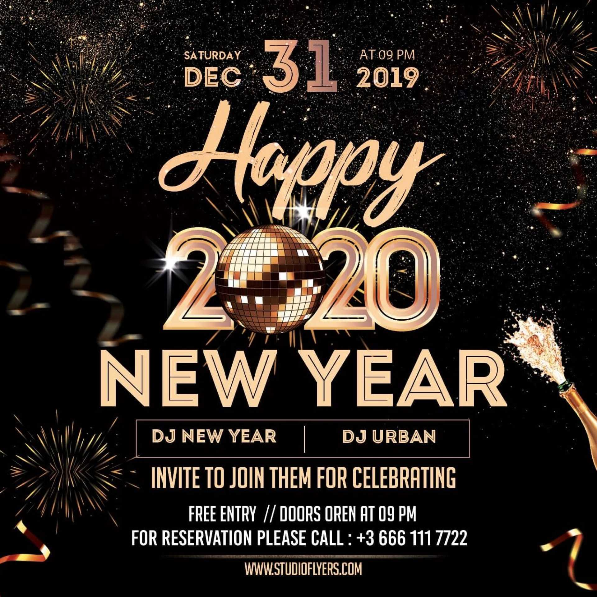 029 Template Ideas Free New Years Eve Flyer Psd Impressive Intended For Free New Years Eve Flyer Template