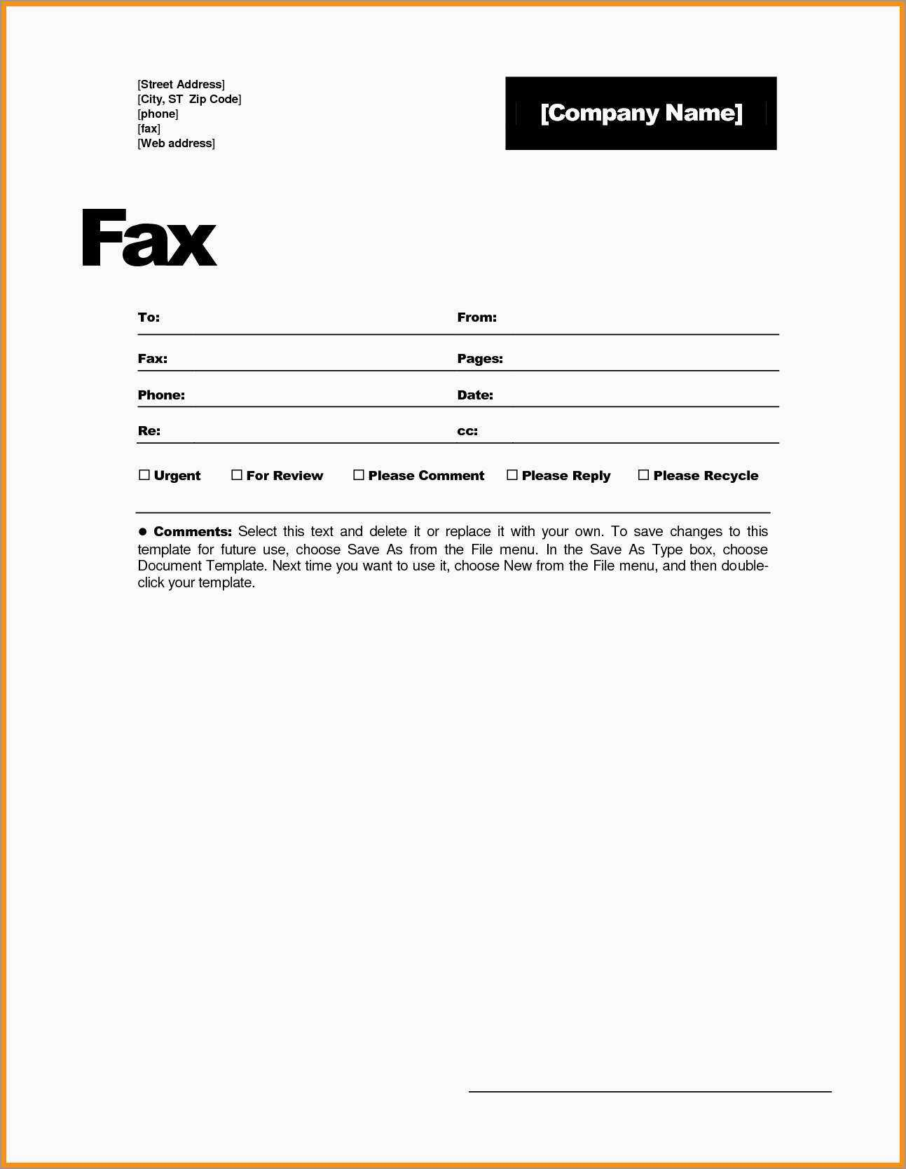 030 Fax Cover Sheet Template Free Word Stupendous Ideas Page In Fax Template Word 2010