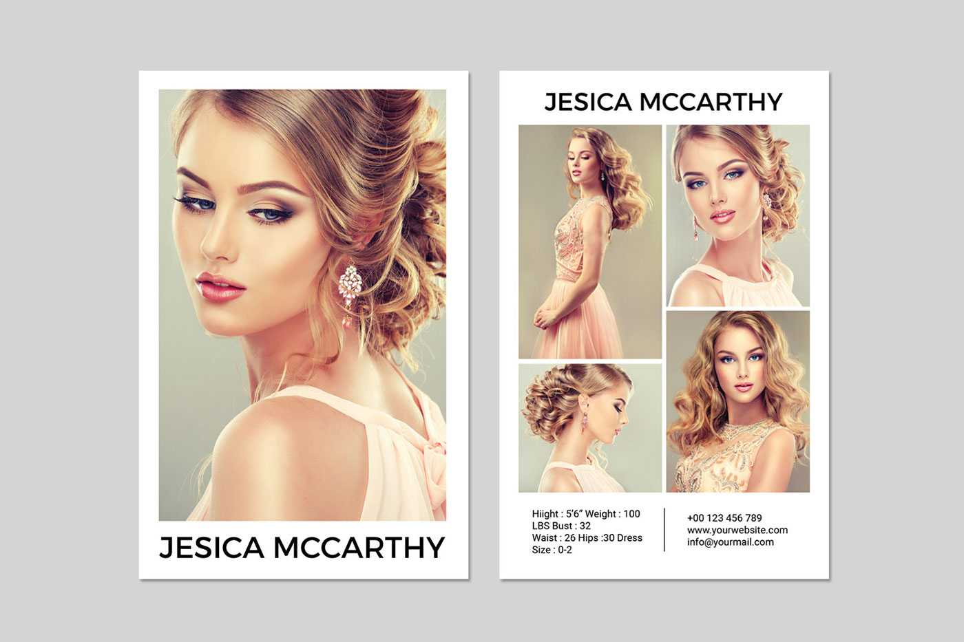 031 Model Comp Card Template Outstanding Ideas Psd Free Throughout Download Comp Card Template